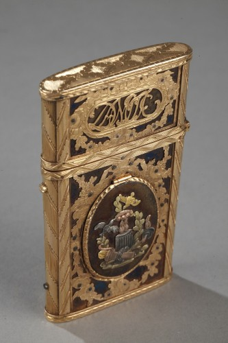 Gold, enamel and stell writing case with secret - Objects of Vertu Style Louis XVI