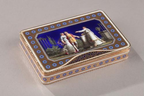Rectangular enamelled gold box. - Objects of Vertu Style Directoire