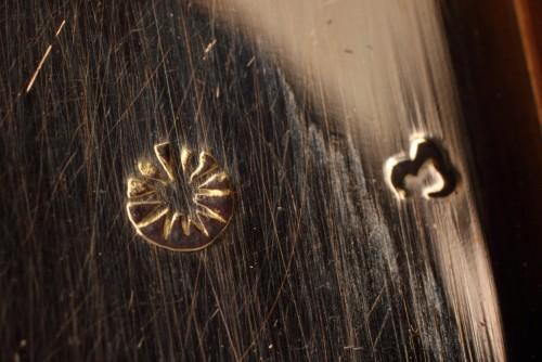 Directoire - Rectangular enamelled gold box.