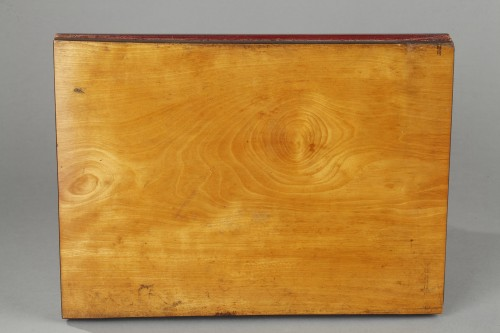 19th century - Blotting paper case with fixé sous verre signed A.GIROUX