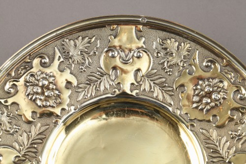 19th century - French Silver Cup and saucer
