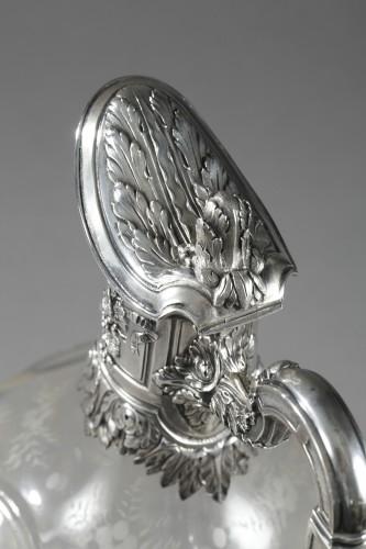 Antique Silver  - A 19th century crystal silver mounted Ewer Edouard Ernie Circa 1880