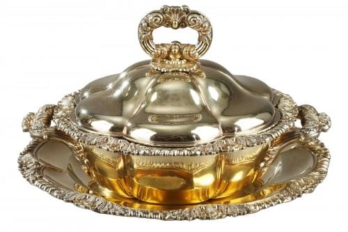 Vermeil oille tureen by c-n odiot . mid-19th century