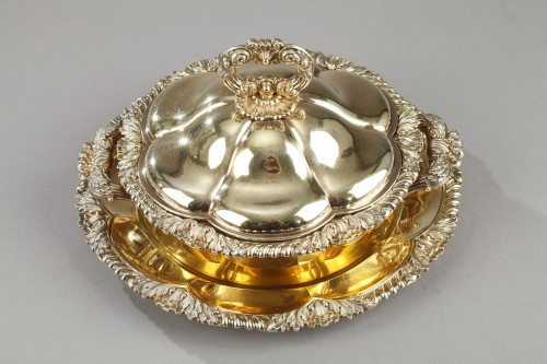 Antique Silver  - Vermeil oille tureen by Charles Nicolas Odiot . Mid-19th century