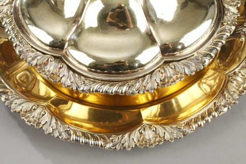 Vermeil oille tureen by Charles Nicolas Odiot . Mid-19th century -