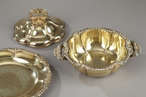 Vermeil oille tureen by Charles Nicolas Odiot . Mid-19th century - Restauration - Charles X