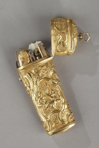 Louis XV - 18th Century Gold Necessaire.