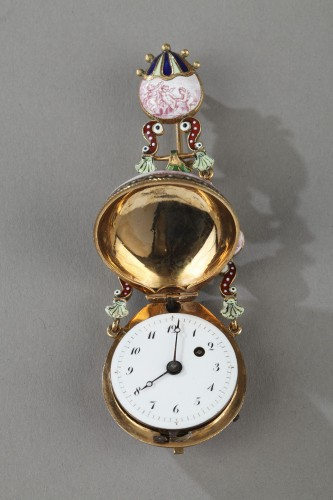 Gold and enamel watch, viennese craftsmanship circa 1860-1870 - Napoléon III