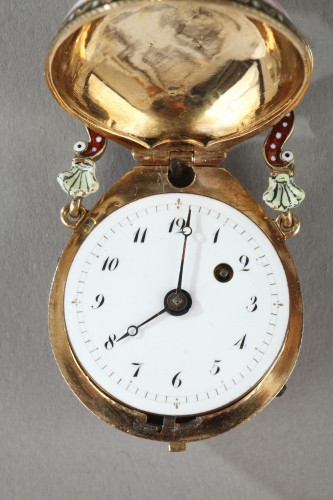 Napoléon III - Gold and enamel watch, viennese craftsmanship circa 1860-1870