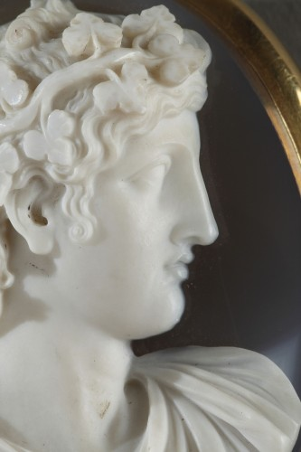 19th century - Cameo on agate gold mount 19th century