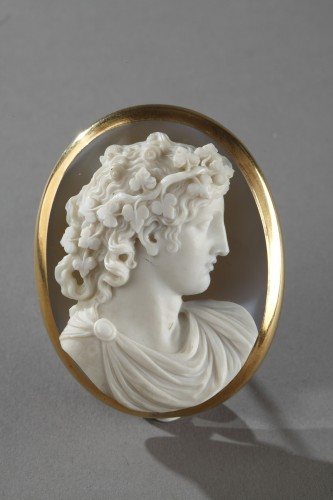 Cameo on agate gold mount 19th century - Louis-Philippe