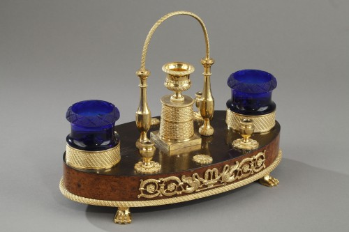 An oval inkstand - Decorative Objects Style Napoléon III