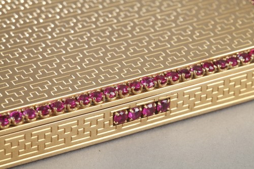 Gold , rubis compact - Antique Jewellery Style Art Déco