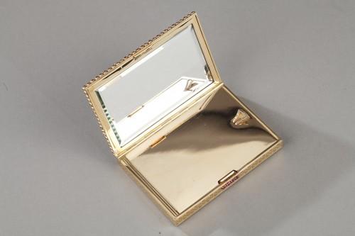 Gold , rubis compact - Art Déco