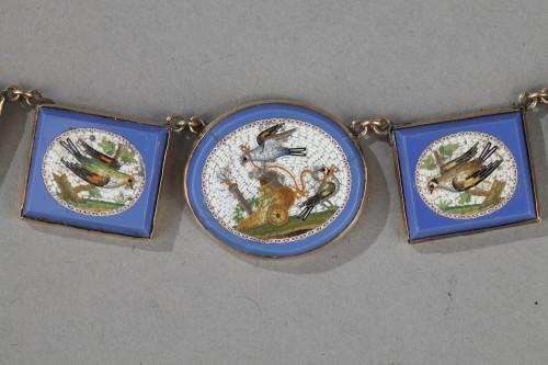 Miicromosaic parure 19th century  - Antique Jewellery Style Empire