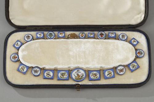 Antiquités - Miicromosaic parure 19th century