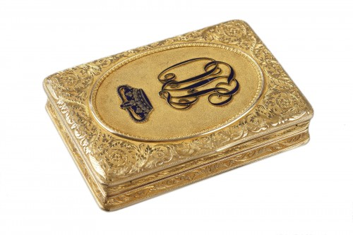 19TH CENTURY GOLD SNUFF-BOX DUKE OF ORLEANS.