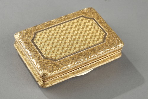 19TH CENTURY GOLD SNUFF-BOX DUKE OF ORLEANS. - Louis-Philippe