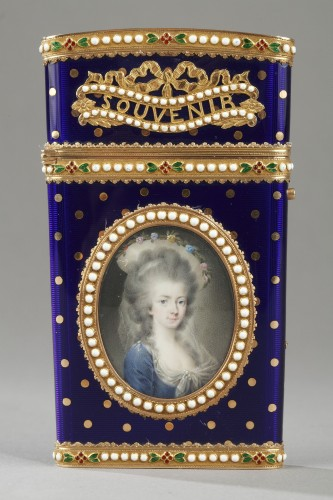 Gold and enamel writting case. Louis XVI - Objects of Vertu Style Louis XVI