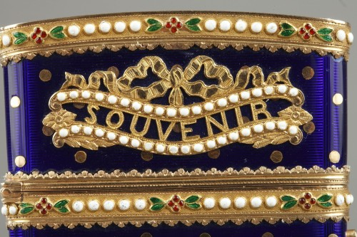 Objects of Vertu  - Gold and enamel writting case. Louis XVI