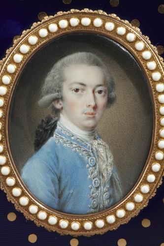 18th century - Gold and enamel writting case. Louis XVI