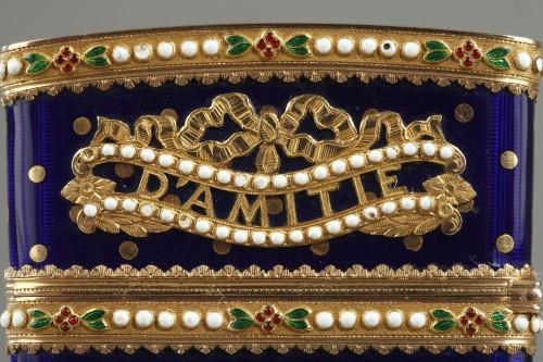 Gold and enamel writting case. Louis XVI - Louis XVI