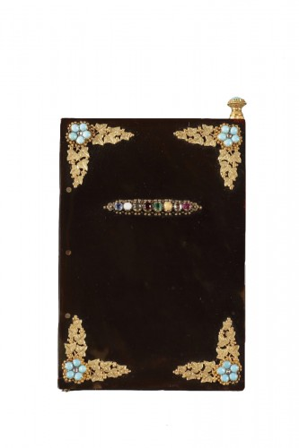 Early 19th century dance Card with acrostic message in precious stones