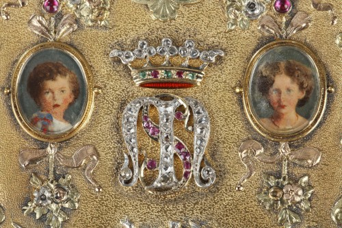 Objects of Vertu  - A 19th Century Gold and Silver, Diamonds case of the Duc de Morny