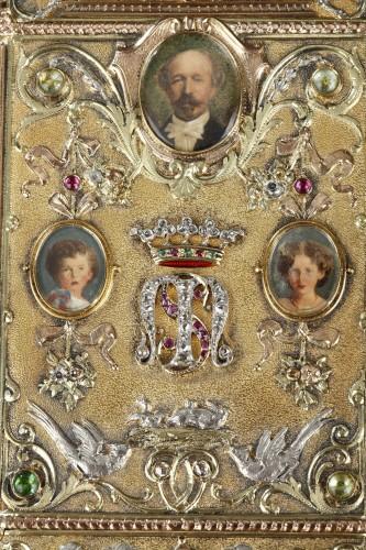 A 19th Century Gold and Silver, Diamonds case of the Duc de Morny -