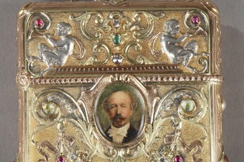 19th century - A 19th Century Gold and Silver, Diamonds case of the Duc de Morny