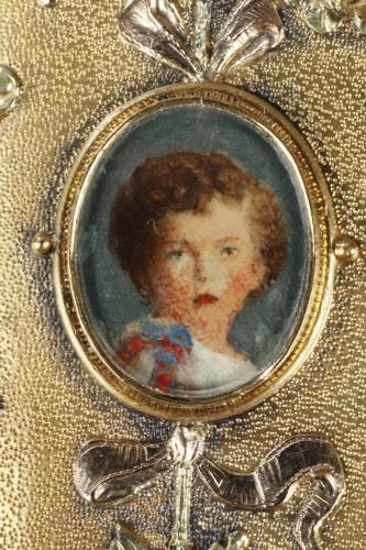 A 19th Century Gold and Silver, Diamonds case of the Duc de Morny - Napoléon III