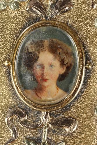 Napoléon III - A 19th Century Gold and Silver, Diamonds case of the Duc de Morny