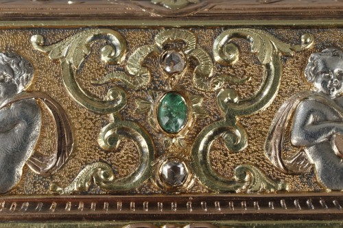 Antiquités - A 19th Century Gold and Silver, Diamonds case of the Duc de Morny