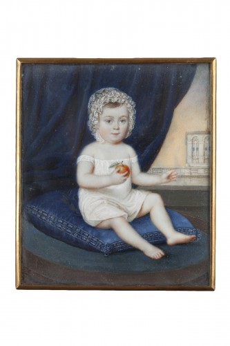 Miniature on ivory signed DAGOTY 1820.