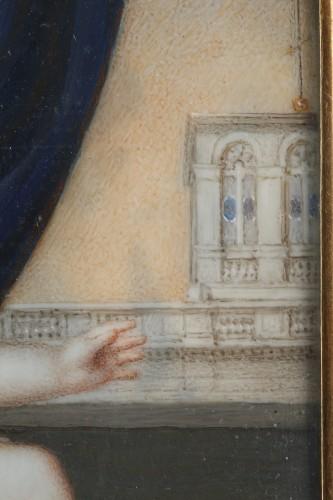 Miniature on ivory signed DAGOTY 1820. - Restauration - Charles X