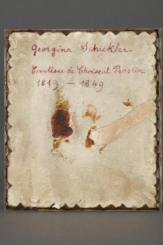 Restauration - Charles X - Miniature on ivory signed DAGOTY 1820.