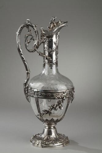 Pair of cut crystal decanter, Edmond Tétard 19th Century -