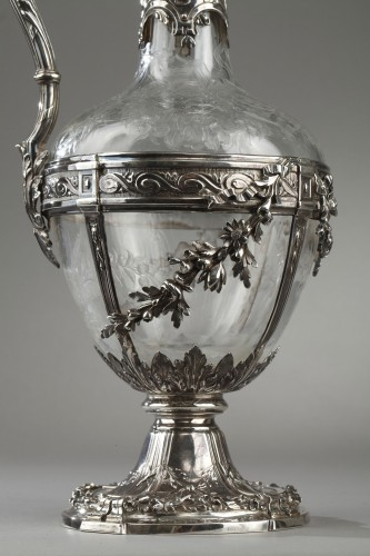 Pair of cut crystal decanter, Edmond Tétard 19th Century - Napoléon III