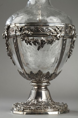 Antiquités - Pair of cut crystal decanter, Edmond Tétard 19th Century