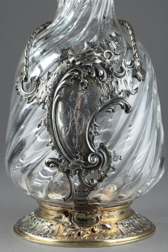 Antique Silver  - GRONIER-ARNAUD LAURENT et Cie - Ewer in silver and crystal