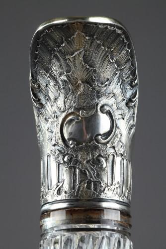 GRONIER-ARNAUD LAURENT et Cie - Ewer in silver and crystal -