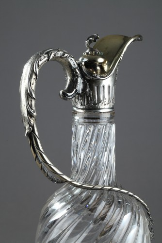 Antiquités - GRONIER-ARNAUD LAURENT et Cie - Ewer in silver and crystal