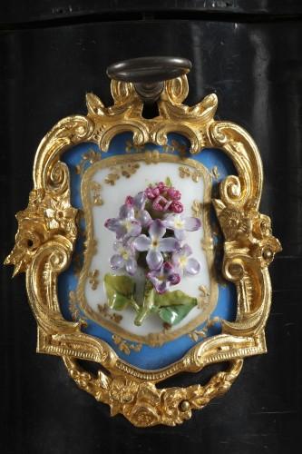 A mid 19th century large ebony and porcelain coffer - alphonse giroux.  - Napoléon III