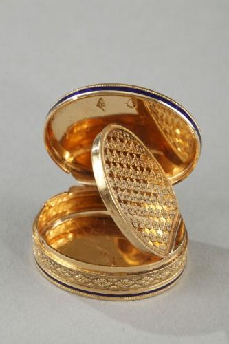 Restauration - Charles X - Early 19th Century Gold Vinaigrette