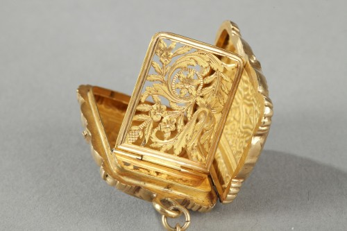 Mid-19th Century Gold Vinaigrette and ring - Louis-Philippe