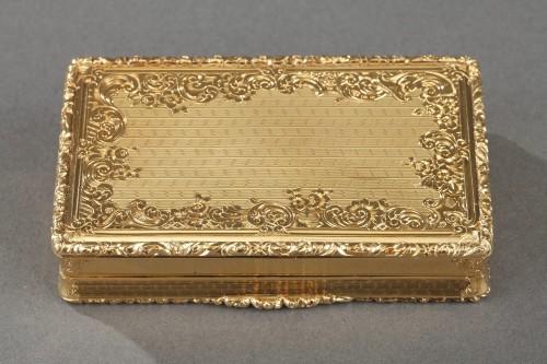 Napoléon III - Mid 19th century snuff box with Napoleon Bonaparte medallion