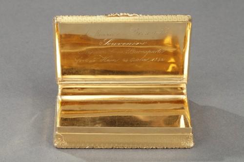 Antiquités - Mid 19th century snuff box with Napoleon Bonaparte medallion