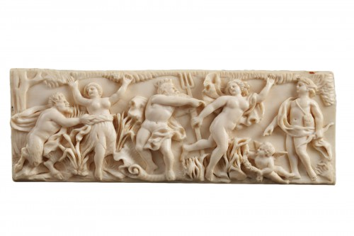 A late 18th Century continental ivory plaque