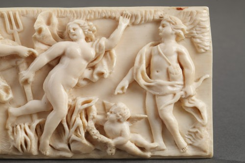A late 18th Century continental ivory plaque - Objects of Vertu Style Louis XVI