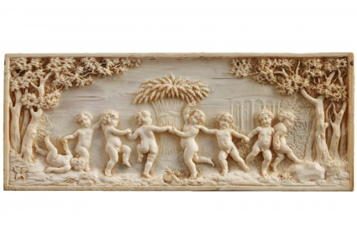 Early 19th Century continental ivory plaque